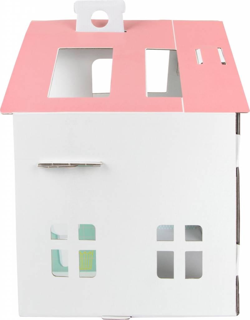 Legler Kartonnen Poppenhuis met stickers