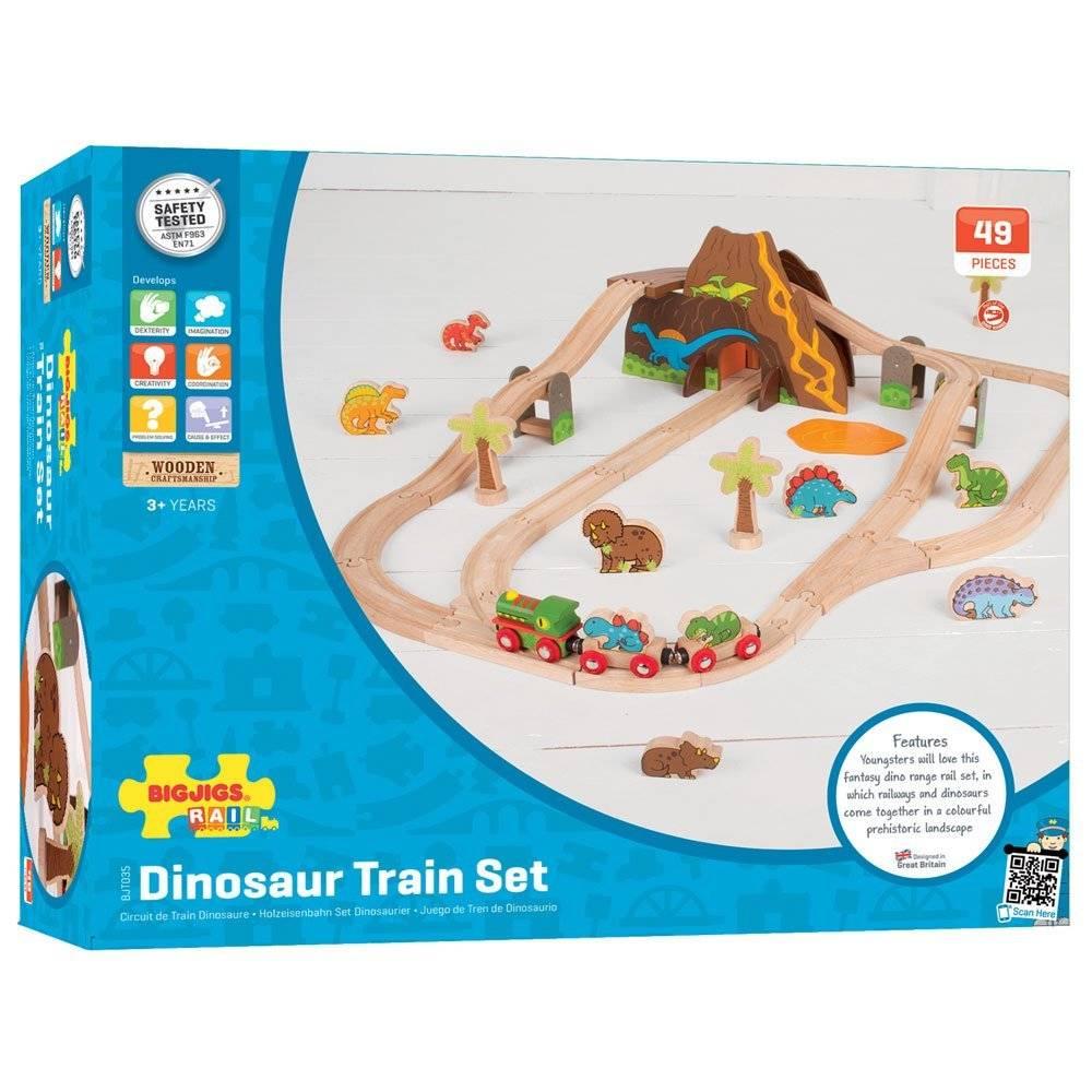 Bigjigs Treinset Dinosaurus