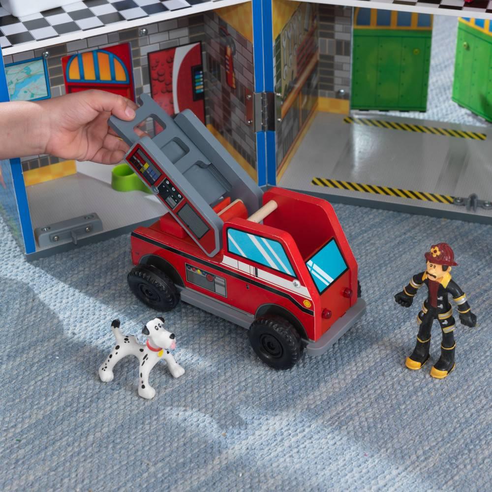 Kidkraft Everyday Heroes brandweerkazerne en politiebureau