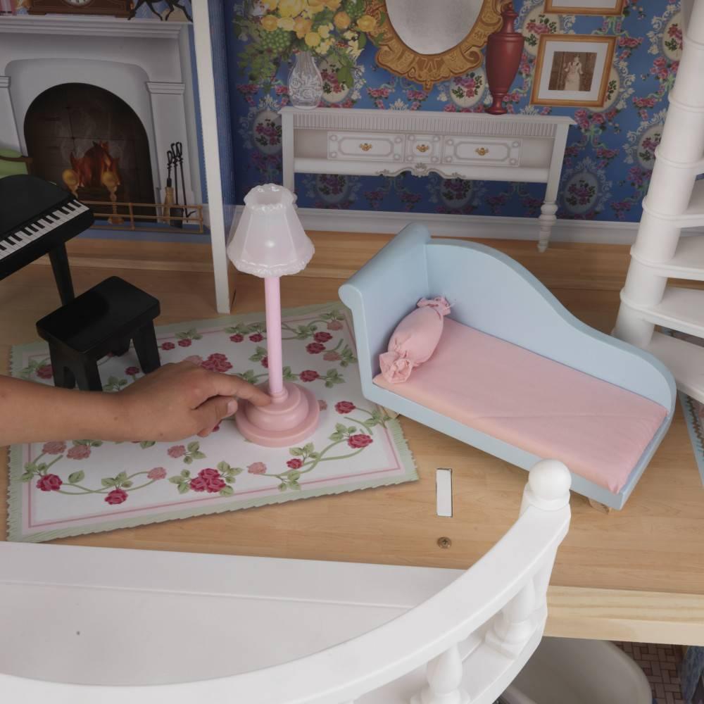 Kidkraft magnolia barbiehuis eenvoudig bestellen het for Barbiehuis meubels