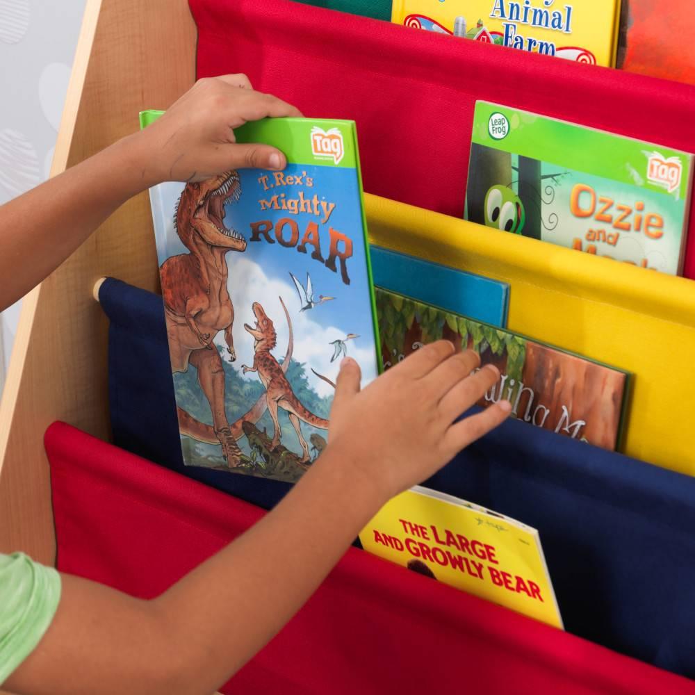 Kidkraft Boekenrek met Hangvakken Primaire Kleuren