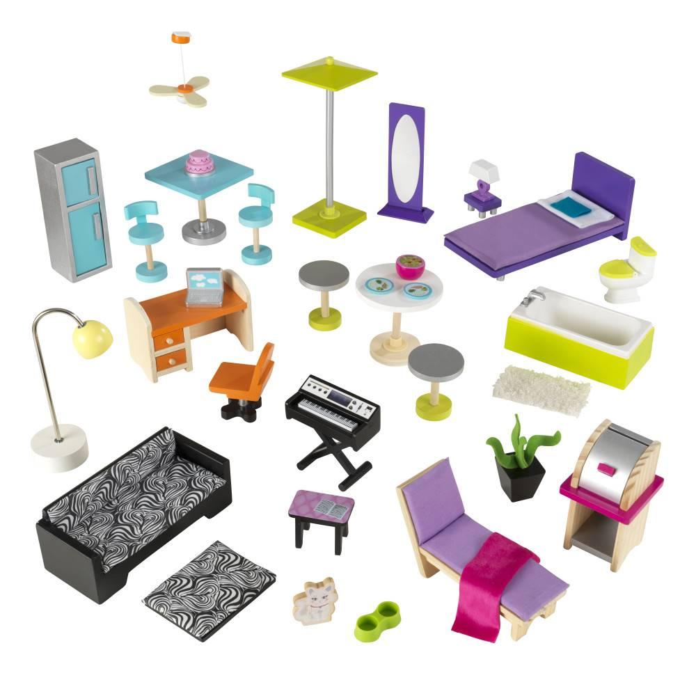 Kidkraft uptown barbiehuis gratis verzending het for Barbiehuis meubels