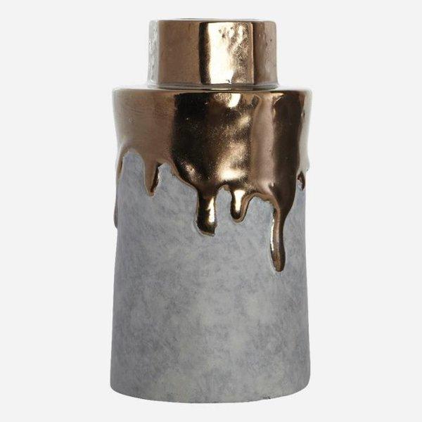 House Doctor vaas beton en goud