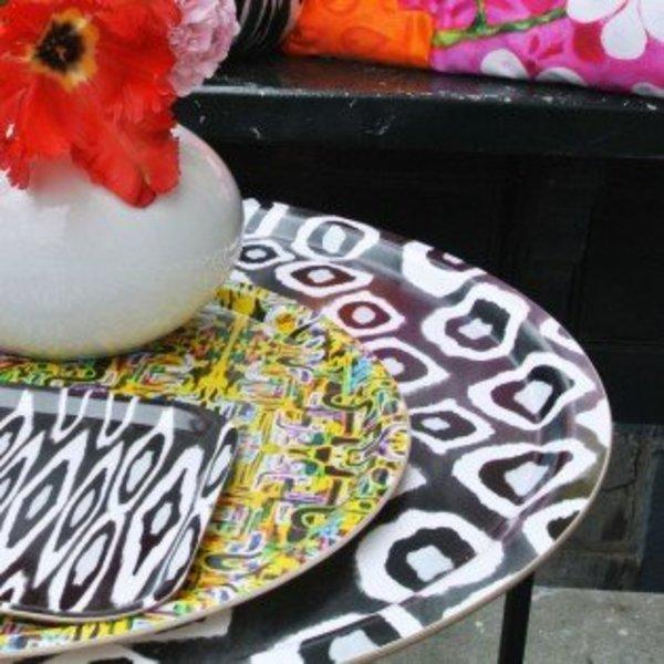 Mariska Meijers Side table coco Ikat black