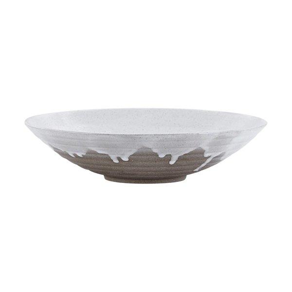 House Doctor Plate Running glaze white