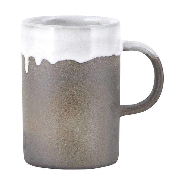 House Doctor Mug Running glaze white