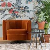Dutchbone Loungechair Flower Velvet