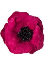 Drukkerapplicatie suede bloem
