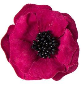 Drukkerapplicatie suede bloem (10 cm)