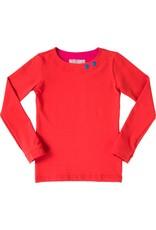 Shirt 'Basic' met lange mouwen in de kleur Rood