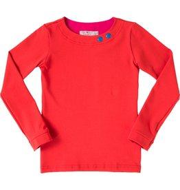 Shirt 'Basic' met lange mouw Rood
