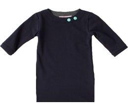 Shirt 'Basic' met driekwart mouwen in de kleur Navy