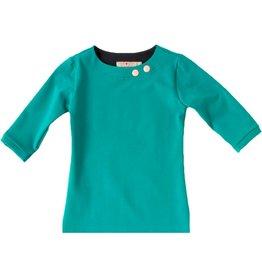 Shirt 'Basic' met driekwart mouw Petrol
