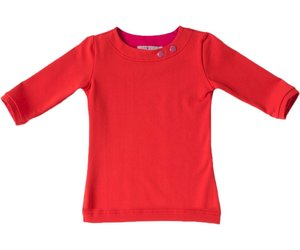 De Kleur Rood : Shirt basic met driekwart mouw rood waaaw kids