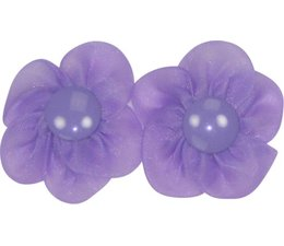 Drukkerapplicatie bloem met basisdrukker (per paar) paars