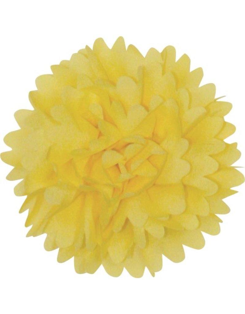 Drukkerapplicatie Dahlia, geel