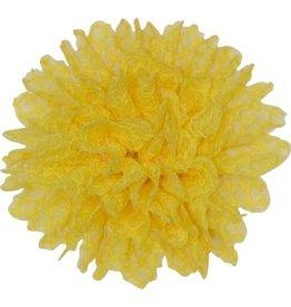 Drukkerapplicatie Kanten bloem, geel