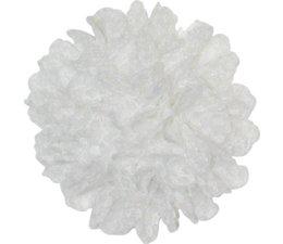 Drukkerapplicatie Kanten bloem, wit
