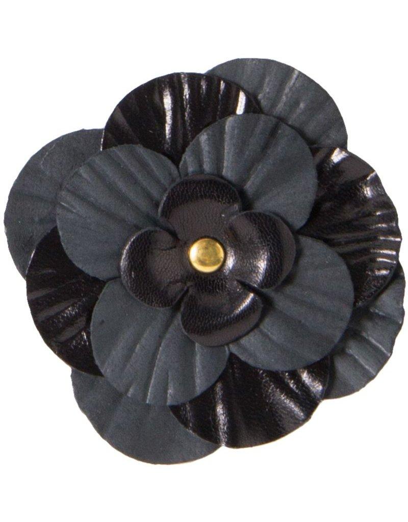 Drukkerapplicatie Lederen roos, zwart