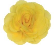 Drukkerapplicatie Voile roos, geel