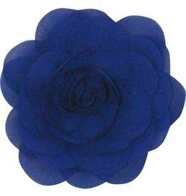 Drukkerapplicatie Voile roos, kobalt