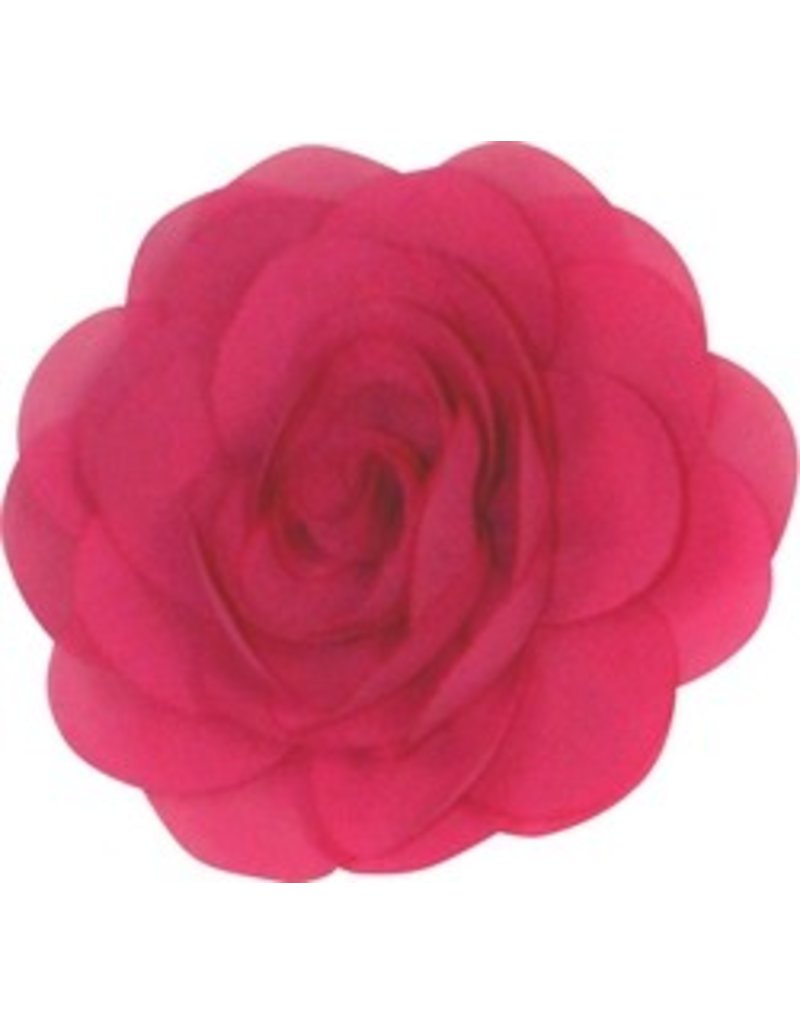 Drukkerapplicatie Voile roos, fuchsia