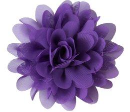 Drukkerapplicatie Voile bloem, paars