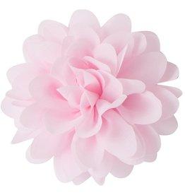 Drukkerapplicatie Voile bloem, licht roze