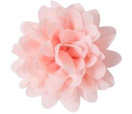 Drukkerapplicatie Voile bloem, zalm roze