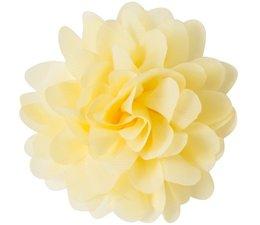 Drukkerapplicatie Voile bloem, geel