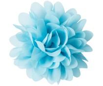 Drukkerapplicatie Voile bloem, lichtblauw