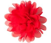 Drukkerapplicatie Voile bloem, rood