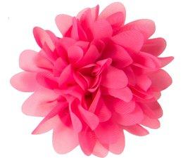Drukkerapplicatie Voile bloem, fuchsia