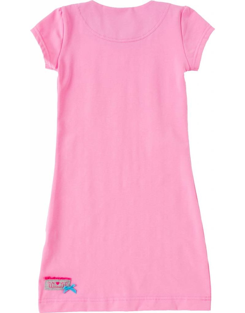 Jurk 'Basic' met korte mouw Licht roze