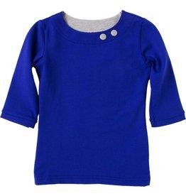 Shirt 'Basic' met driekwart mouw Kobalt