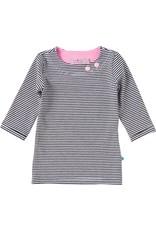 Shirt 'Basic' met driekwart mouw Streep