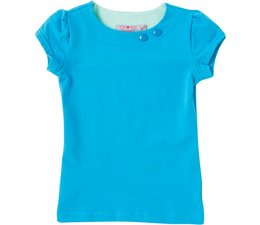 Shirt 'Basic' met korte mouw Aqua