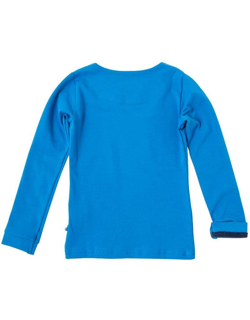 Shirt 'Basic' met lange mouw Blauw