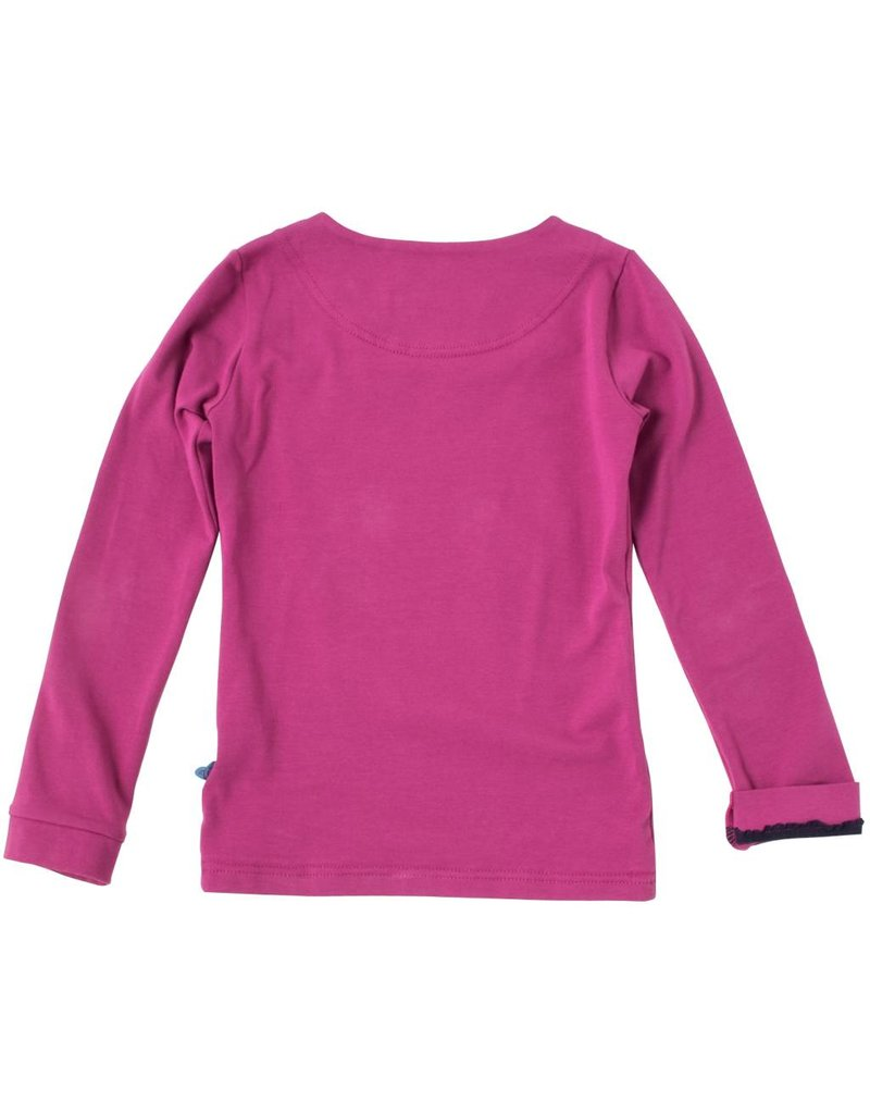 Shirt 'Basic' met lange mouw Cyclaam