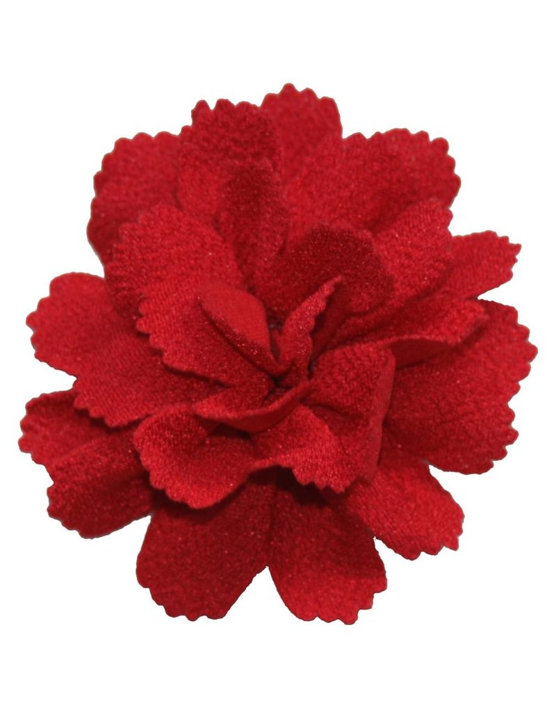 Drukkerapplicatie midi bloem donkerrood