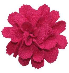 Drukkerapplicatie midi bloem fuchsia