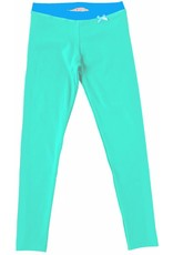 Legging 'Basic' Zeegroen