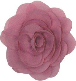 Drukkerapplicatie Voile roos, oud roze