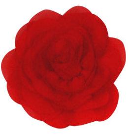 Drukkerapplicatie Voile roos, rood