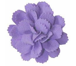 Drukkerapplicatie midi bloem lila