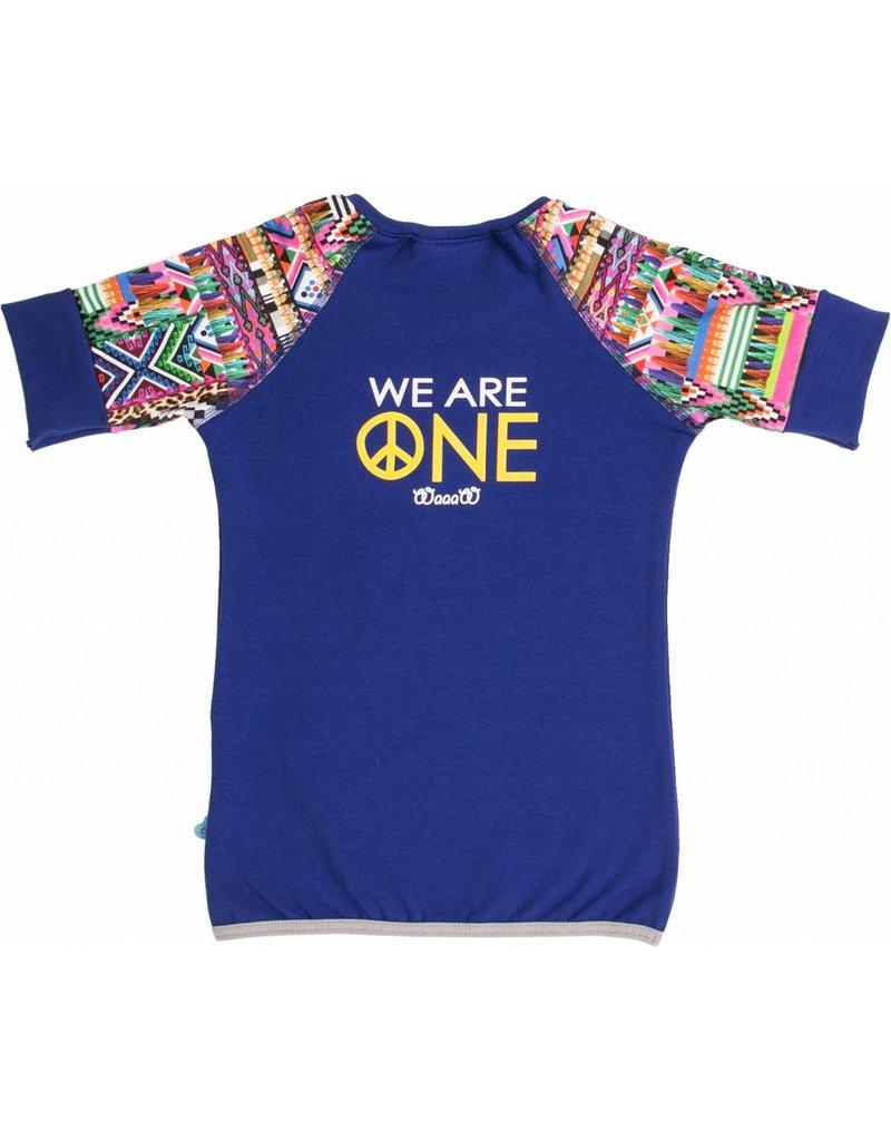 Shirt 'Peace' Kobalt