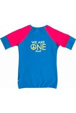 Shirt 'Peace' Blauw