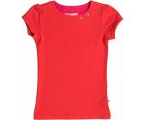 Shirt 'Basic' korte mouw Rood
