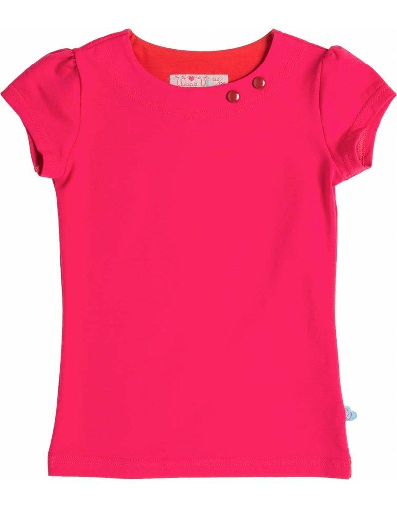 Shirt 'Basic' korte mouw Fuchsia