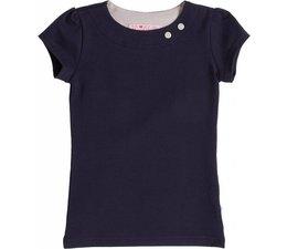 Shirt 'Basic' korte mouw Navy